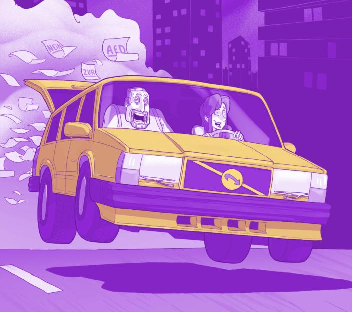 Coverausschnitt Vogelschiss Graphic Novel